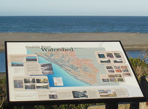 Watershed Kiosk overlooking the Gualala Estuary