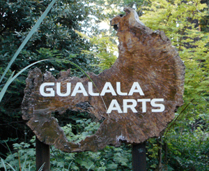 Redwood sign for Gualala Arts