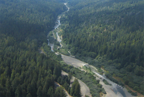Gualala River and the San Andreas Fault