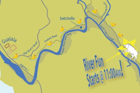Map to A Day On the River!