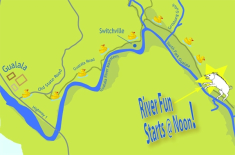Directions to A day On the River! For more information call 707.884.9166